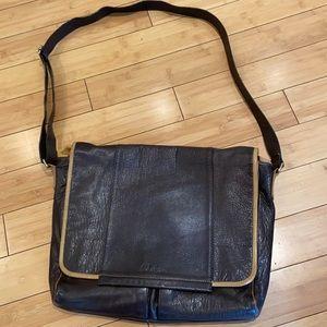 Cole Haan Brown Leather Men's Messenger